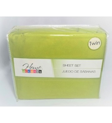 Set de sábanas color verde...