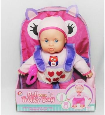 Muñeca con bolso porta bebé