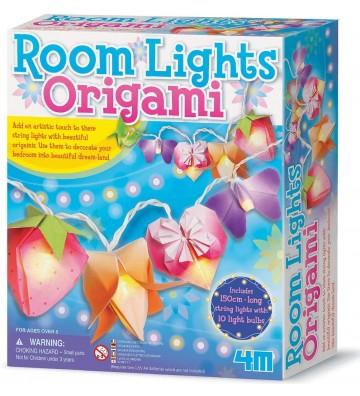 Formas de origami con luz