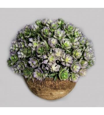 Flores artificiales moradas...
