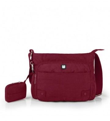 Bolso rojo con cartera West...