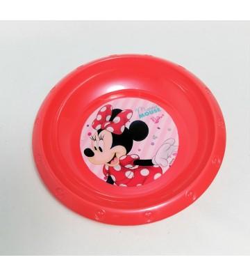 Plato hondo rojo de Minnie