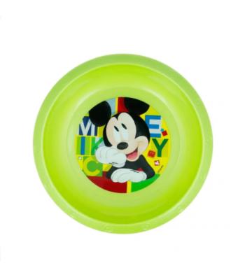 Plato hondo verde de Mickey