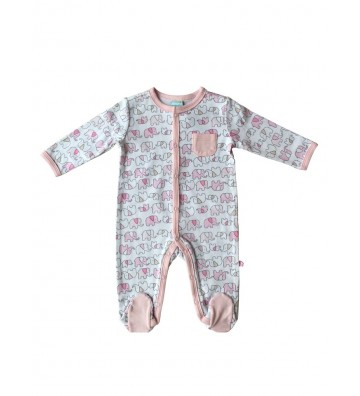 Pijama larga rosada Kobytin...