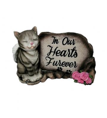 Adorno de gato con letrero...