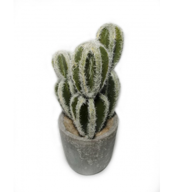 Cactus artificial en maceta