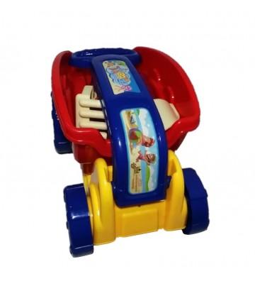 Vagoneta con juguetes de playa