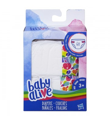 Set de 6 pañales Baby Alive