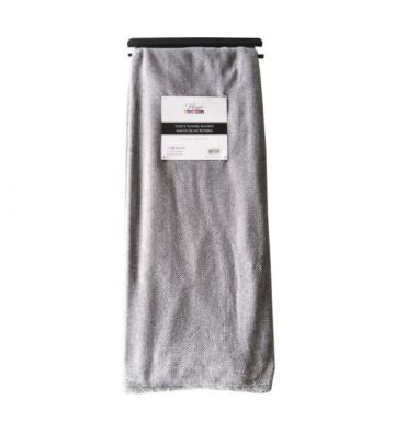 Manta de microfibra color gris