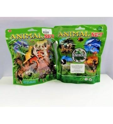 Set de animales en bolsa