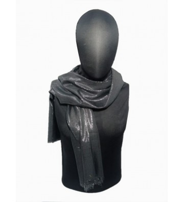 Pashmina brillante color negra