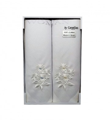 Pañuelos blancos para dama