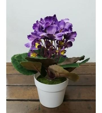 Flores artificiales en maceta