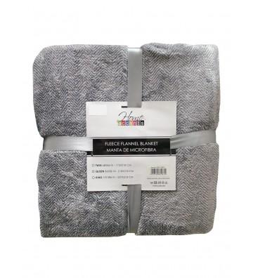 Manta queen color gris...